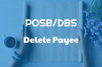 Delete Payee in POSB-DBS