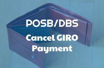 POSB-DBS Cancel GIRO Payment